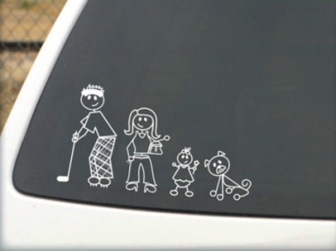 ASAG - Family Car Stickers